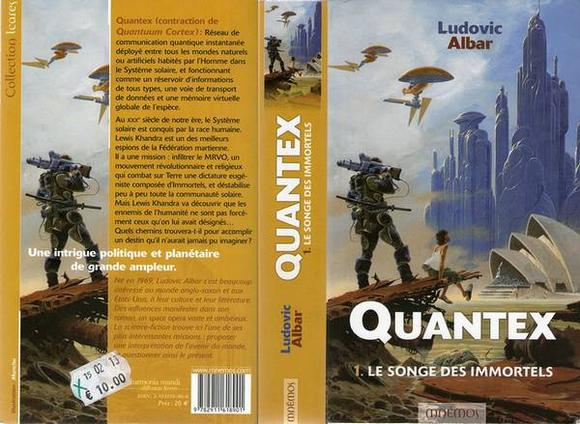 Quantex, le Songe des Immortels, de Ludovic Albar, roman de space opéra science-fiction)
