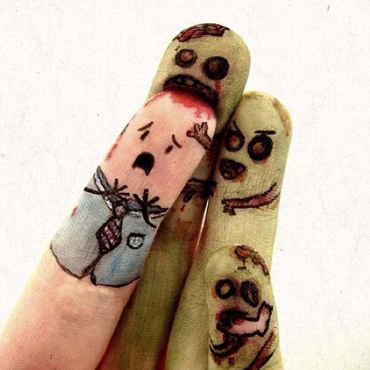 horde de zombies contaminés par le virus