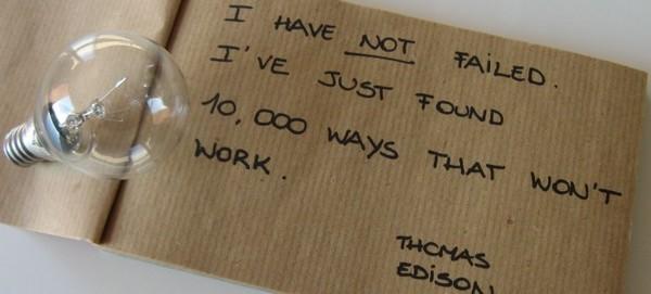 Thomas Edison trouver 10 000 façons qui ne marchent pas
