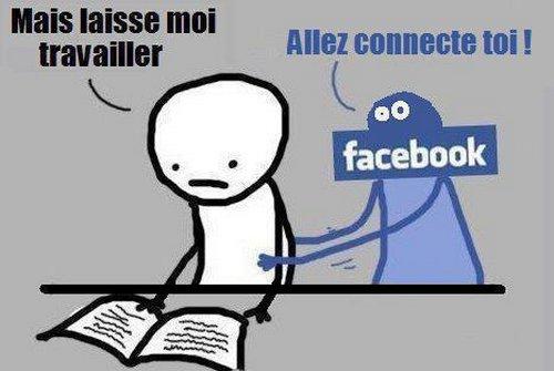quand facebook empêche de travailler