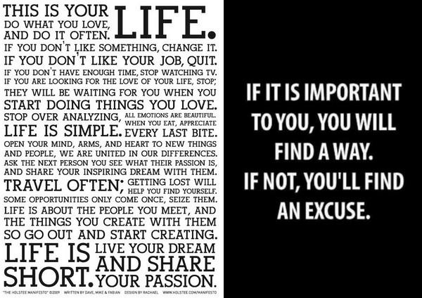 citations motivantes pour devenir écrivain Holstee Manifesto
