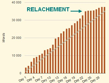 Camp NaNoWriMo avril 2015 statistiques Jérémie Lebrunet