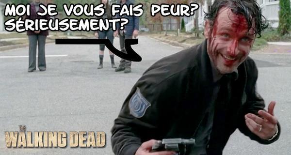 The Walking Dead Rick Grims fou colère