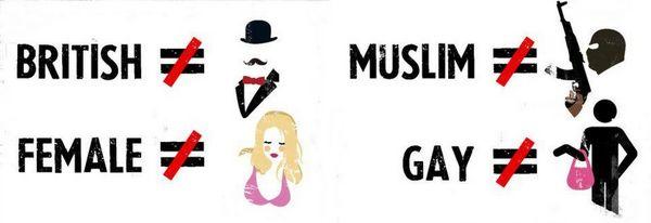stéréotypes anglais musulman femme gay