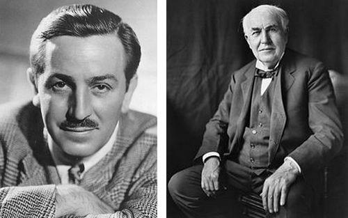 Walt Disney et Thomas Edison maîtres dans l'art de la persévérance et pas de l'échec