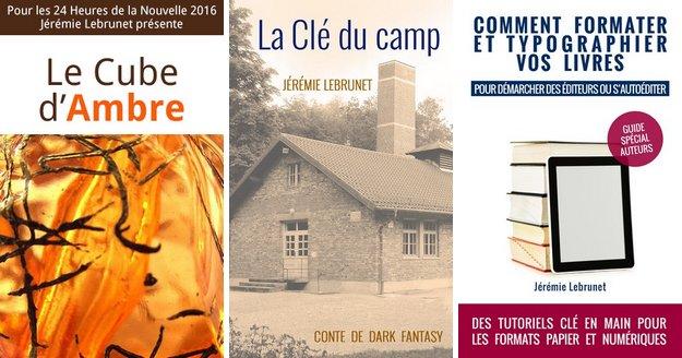 livres publiés par l'écrivain Jérémie Lebrunet en 2017