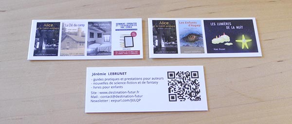 salon des auteurs indépendants cartes de visite