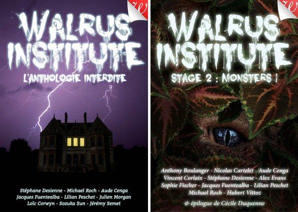 couvertures des anthologies Walrus Institute